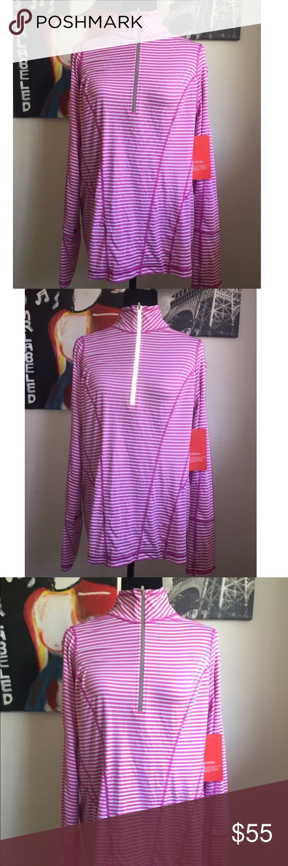NWT Zella Thermal Pink and white striped thermal. NWT. Size Xlarge. Anti cling soft fabric for added comfort. 2nd picture is with the flash on. Zella Tops Tees - Long Sleeve