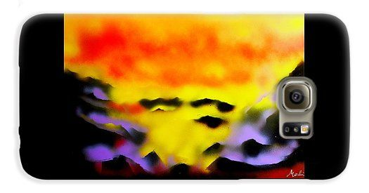 Land Of Heavens Galaxy S6 Case Printed with Fine Art spray painting image Land Of Heavens by Nandor Molnar (When you visit the Shop, change the orientation, background color and image size as you wish)