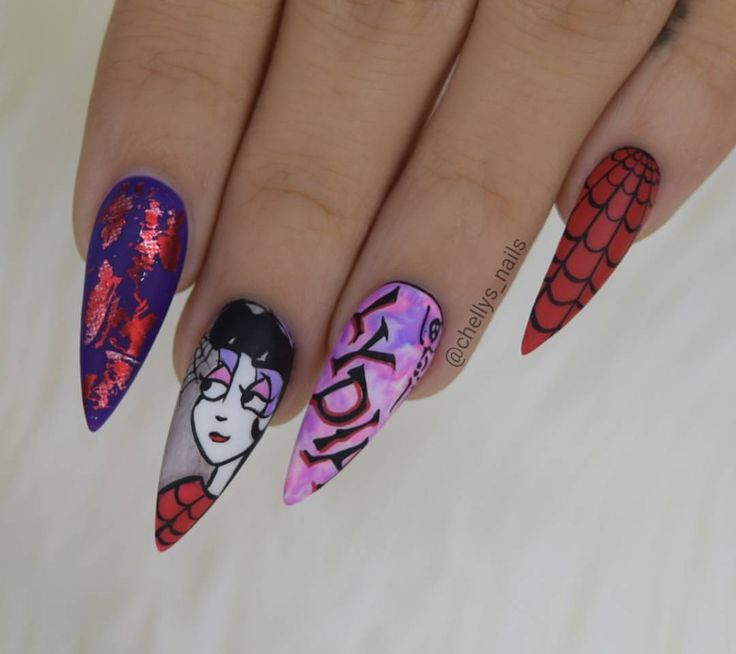 """99 Likes, 1 Comments - Michelle Soto (@chellys_nails) on Instagram: """"Lydia from Beetlejuice animation All @vetro_usa #nails #nailsinorlando #nailsinkissimmee #nailporn…"""""""