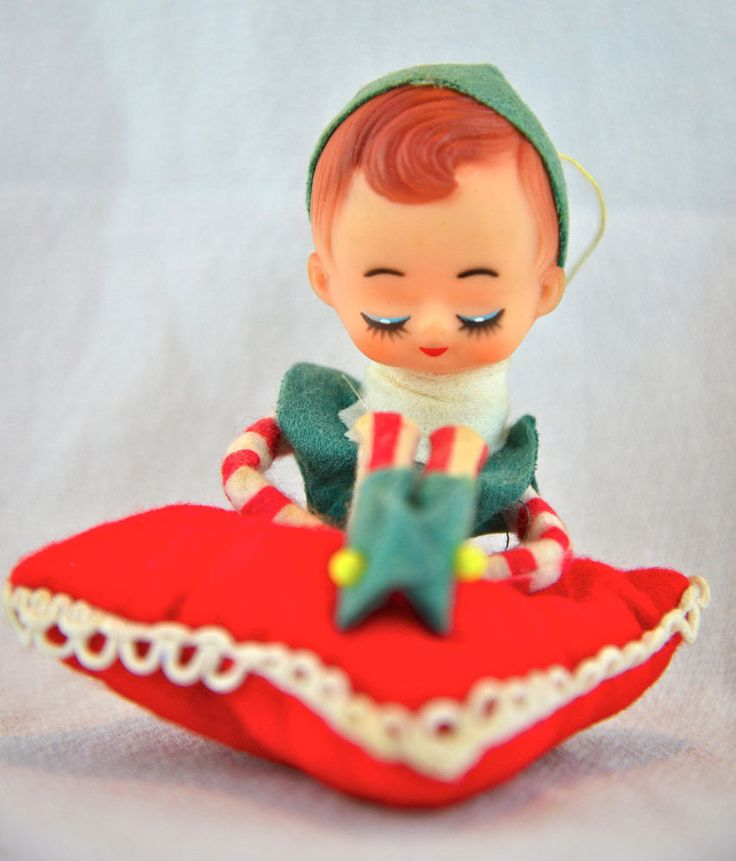 Japan vintage elf ornaments phrase... sorry
