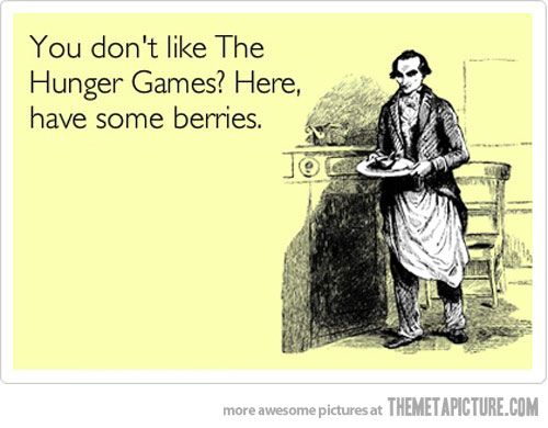 So you don't like the Hunger Games…