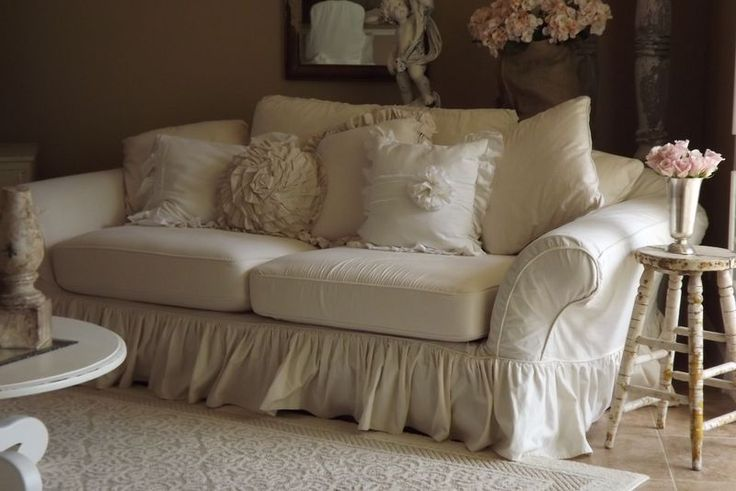 Slipcover...I have always wanted a shabby chic room with a white slipcover just like this. sigh....it will never happen.