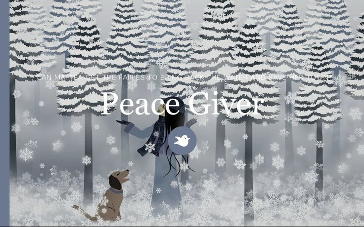 "Peace Giver: Featured Story for December Challenge ""You are gifted."" The Winter Fairies have disappeared and taken all the water with them, leaving suffering and famine. Can a little girl with a big heart convince them to come back and restore life to the forest and her village? #ShortStory"