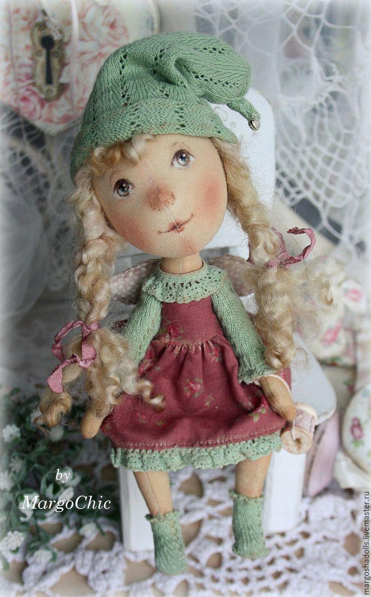 Купить Рождественский ангел Эллина.По мотивам работ Е ГАпчинской - комбинированный, кукла тыквоголовка