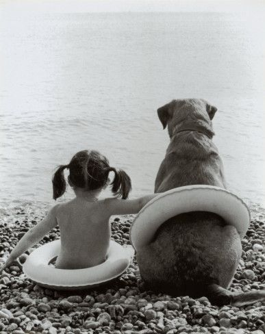 Girl with Dog Poster