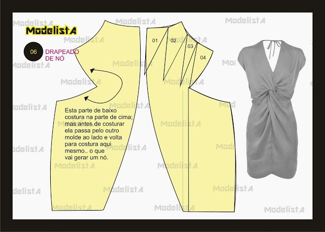 ModelistA: De Nó, Drapeado Nó, Twists Dresses, Very Good, Drapeado De, Modelista Dresses, Knot Dresses, Dresses Patterns, Sewing Patterns