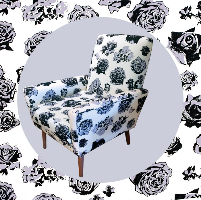 Take a seat in EDIT's dusky lilac Block Roses chair. In store now, $1500