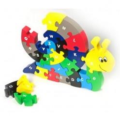 Puzzle – Slimák s ABECEDOU