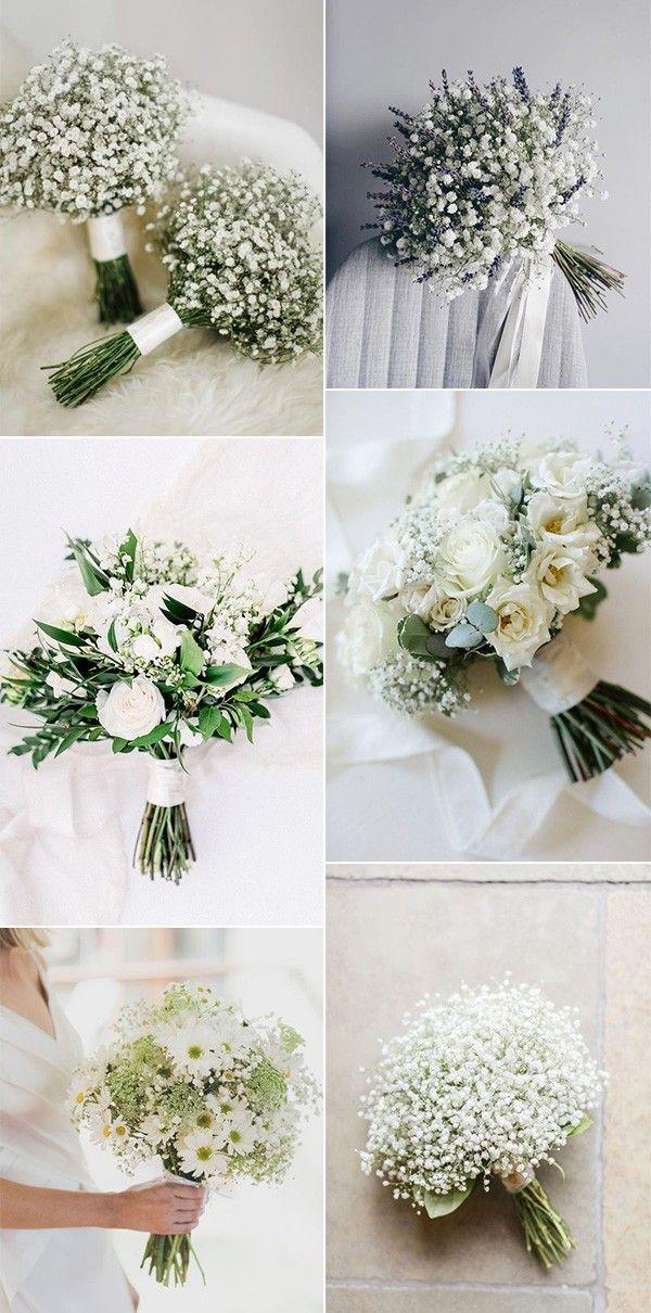 Baby S Breath Wedding Bouquet Ideas Rustic Wedding Flowers Flower Bouquet Wedding Hand Bouquet Wedding