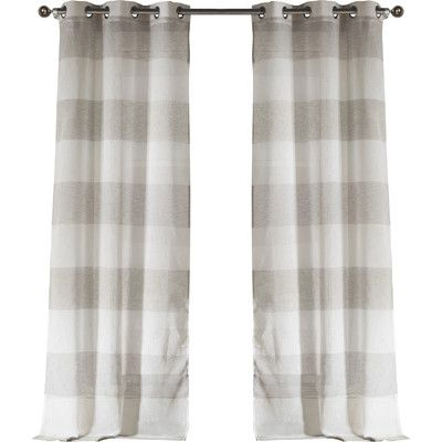 Laurel Foundry Modern Farmhouse Hiltonia Grommet Curtain Panels Color: Gray