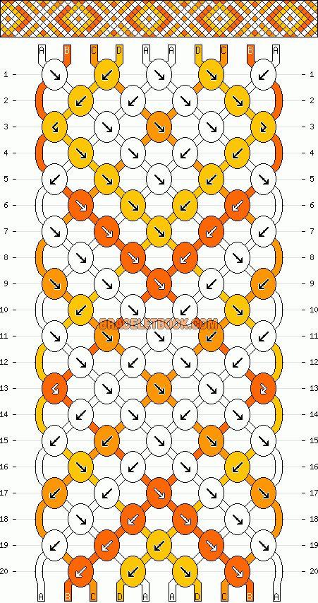 Normal Friendship Bracelet Pattern #10304 - BraceletBook.com