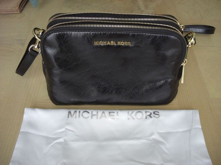 bags michael kors outlet 29v7  NWT MICHAEL KORS ALEXIS LEATHER MESSENGER MEDIUM HANDBAG