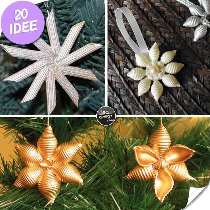 Decorare l'albero di Natale con la pasta! 20 idee + Video tutorial Decorare l'albero di Natale con la pasta - Idee n° 1-5-6 Ecco per voi oggi 20 idee creative per realizzare degli addobbi natalizi per il vostro albero! Le idee n° 4, 11, 16, 20 sono dei...