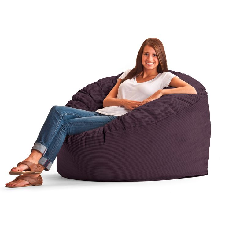 fufsack wide wale corduroy 4foot large bean bag chair overstock shopping - Giant Bean Bag Chairs