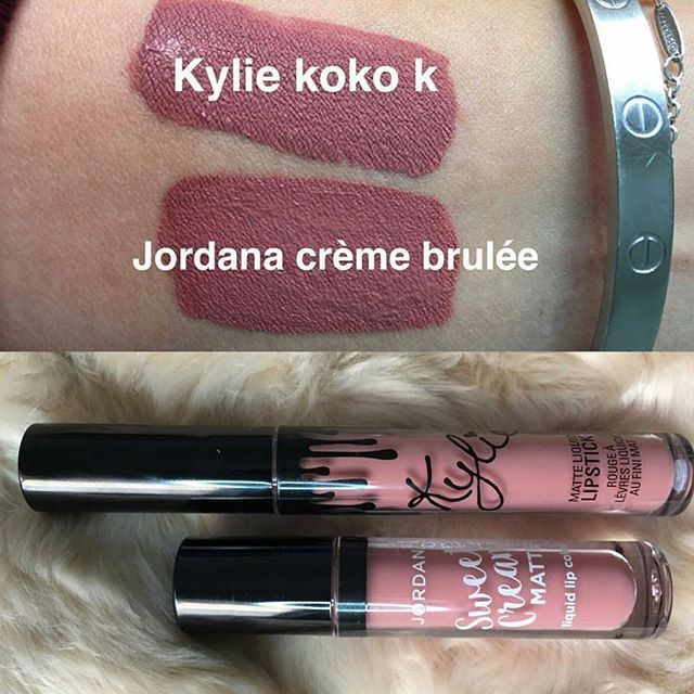 Kylie Koko K dupe Jordana Creme Brulee