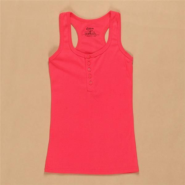 2017 Women Tank Top Summer Solid Tanks Camisole Fitness Women Active Tops Vest Tank Shirt Basic Casual Female Clothing Camis
