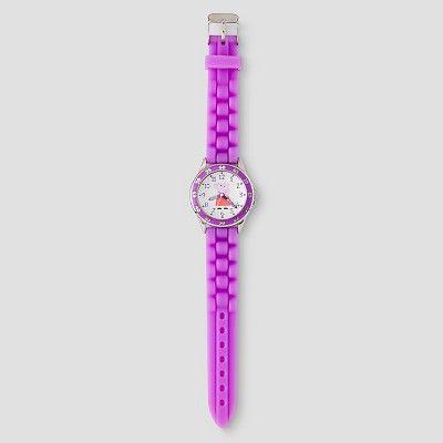 Kids Peppa Pig Time Teacher Watch - Purple, Girl's, Rich Plum