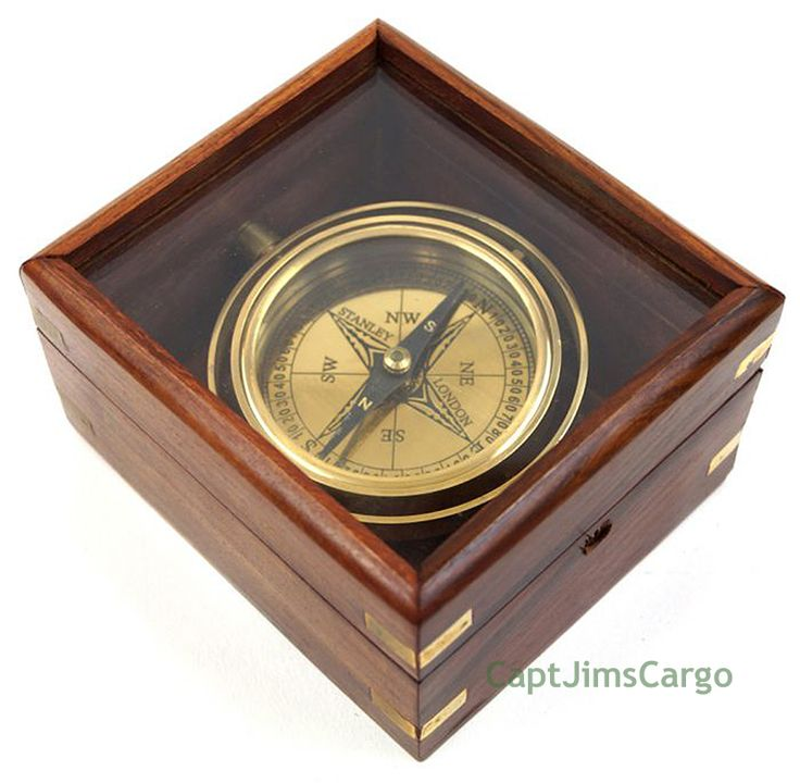 "CaptJimsCargo - Brass Lifeboat Gimbal Ship Compass 4.5"" Display Case Nautical Gift, $35.99 (http://www.captjimscargo.com/nautical-home-decor/decorative-nautical-compasses/brass-lifeboat-gimbal-ship-compass-4-5-display-case-nautical-gift/)"