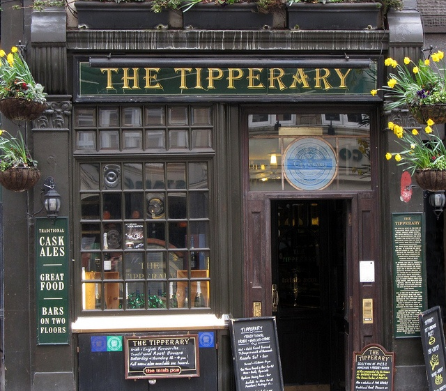 London - The Tipperary is London's most historic Irish pub. I had many a Guinness here!