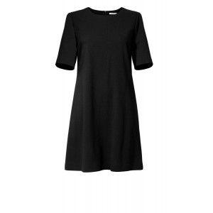 Kossmann - dzianinowa czarna sukienka