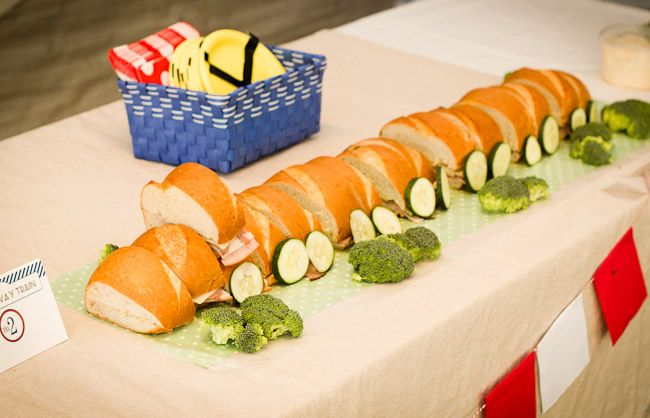 A Subway sandwich train. Get it? Terrific Train Birthday Party