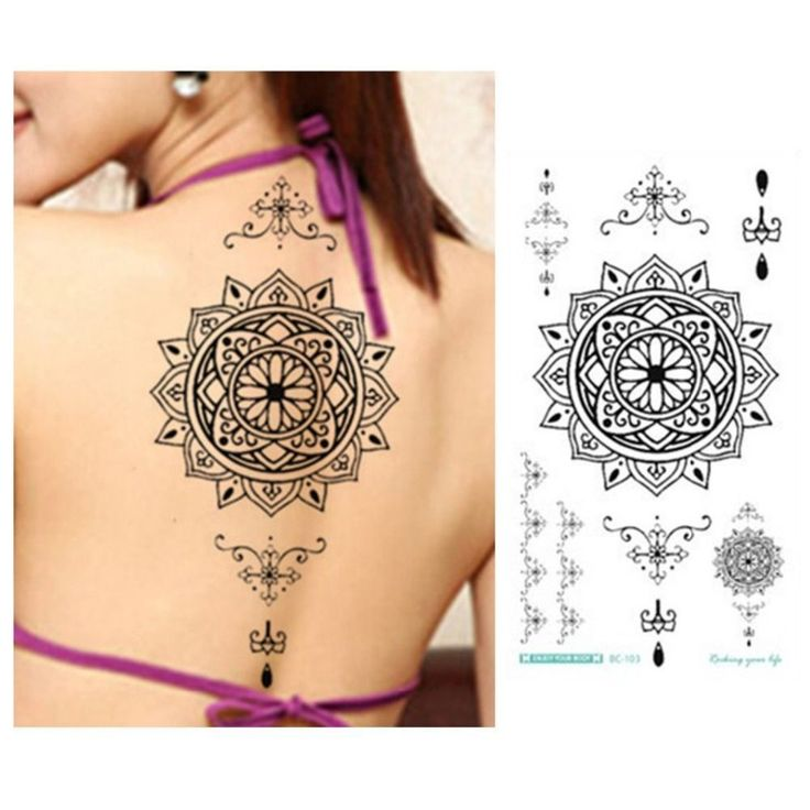 6pcs/lot Jewelry Lace Tattoo Fake Black Temporary Tattoo Stickers For Arm Should…