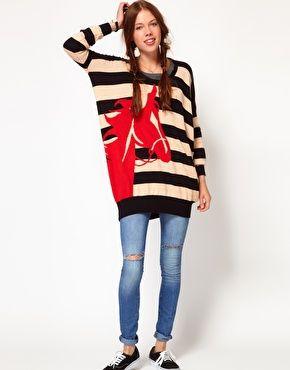 PONY!  Enlarge b + ab Horse Sweater