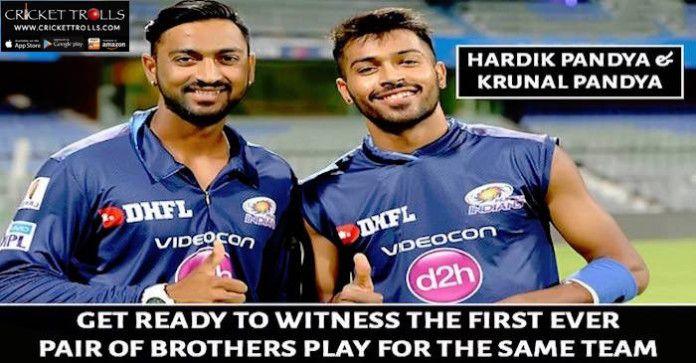 #VivoIPL #IPL9 #IPL2016 #T20 #HardikPandya #KrunalPandya  Hardik Pandya and Krunal Pandya all set to play for Mumbai Indians  http://www.crickettrolls.com/2016/04/09/pandya-brothers-hardik-and-krunal-to-play-for-mumbai-indians-ipl-2016/