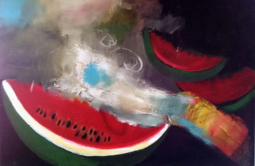 Watermelon-contemporary-art-on-Canvas-60-cm-x-40-cm