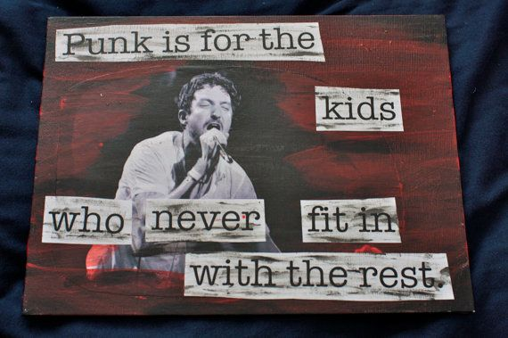 Frank Turner  Four Simple Words mixed media by alienantidote