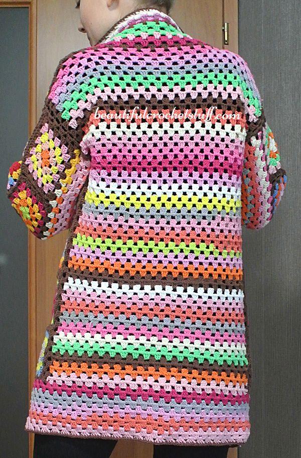 Granny Square Cardigan Pattern