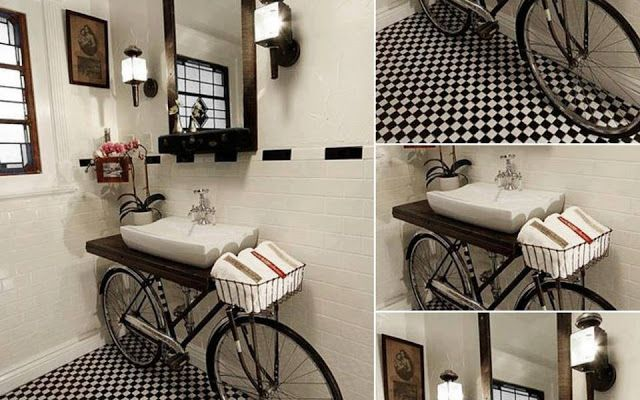 Bicycle Sink... Cool!
