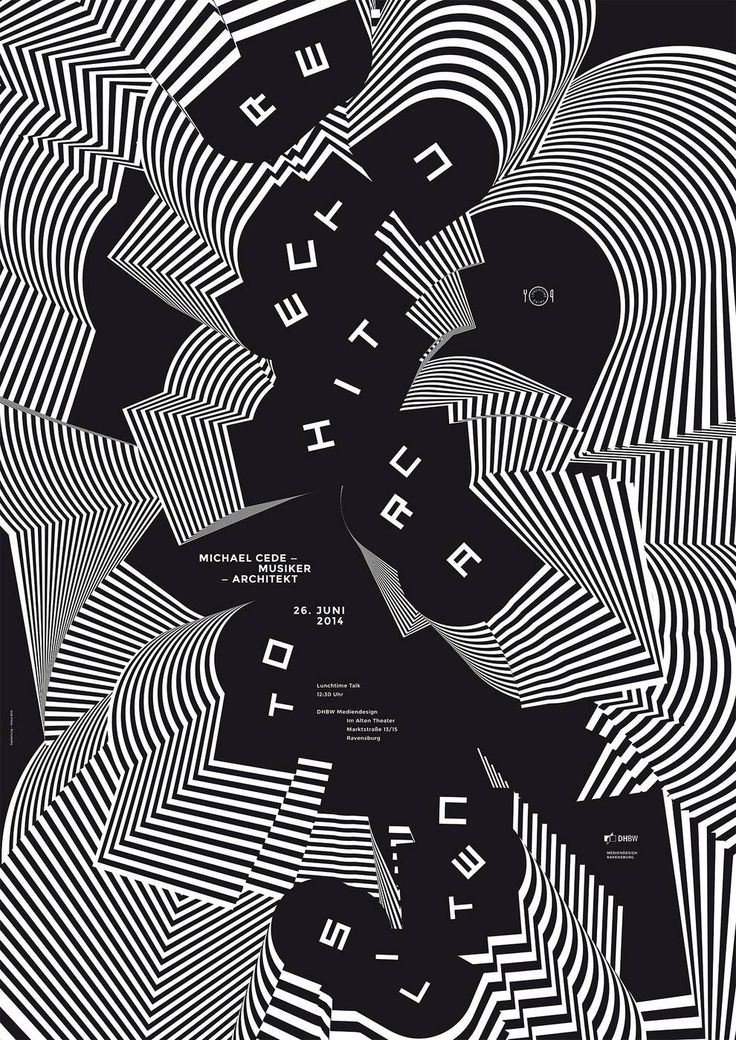 Poster by Klaus Birk for Lunchtime Talk 990×1 400 пикс