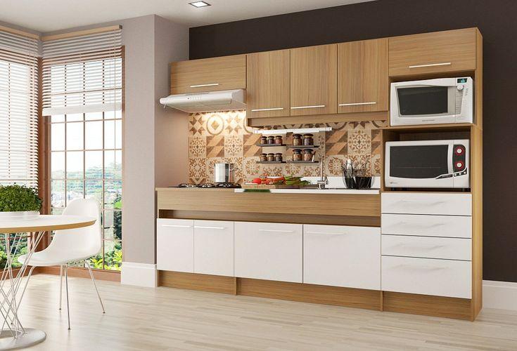 Cozinha Compacta Decibal Ligia, 9 Portas, 4 Gavetas - CO790 - Colombo