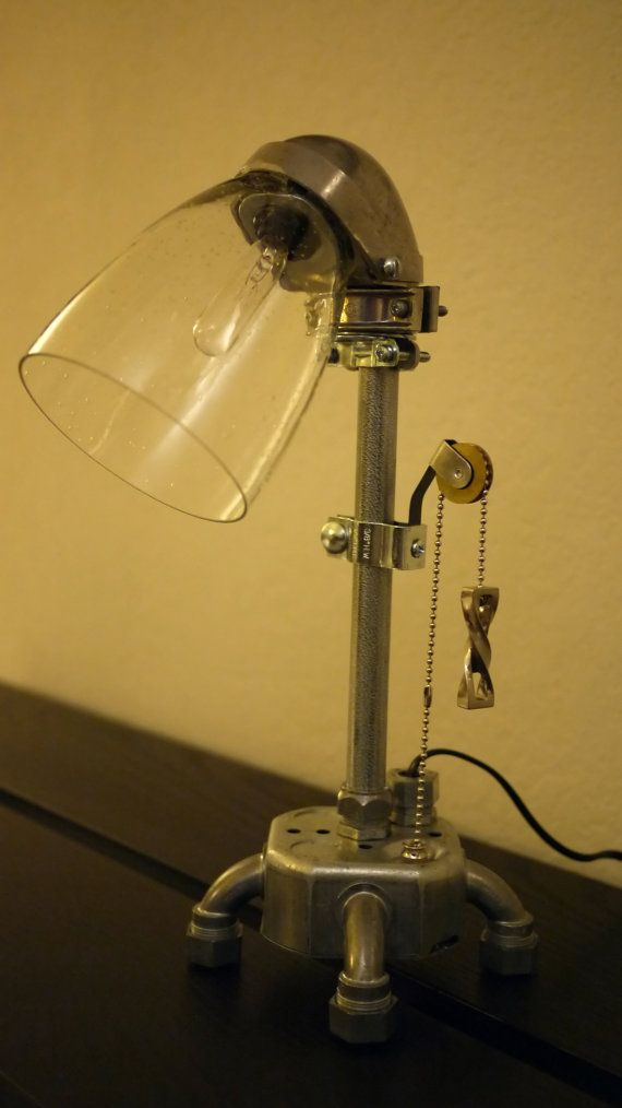 Modern Industrial Table Lamp V by David Nguyen.