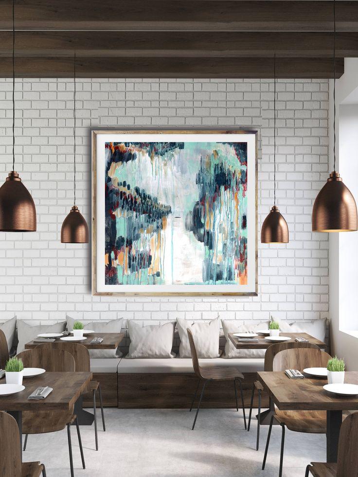 Modern abstract art print, bright abstract art, blue abstract, modern painting, interior art, contemporary art, commercial art, abstract art by anntygettjonesstudio on Etsy https://www.etsy.com/listing/554182289/modern-abstract-art-print-bright