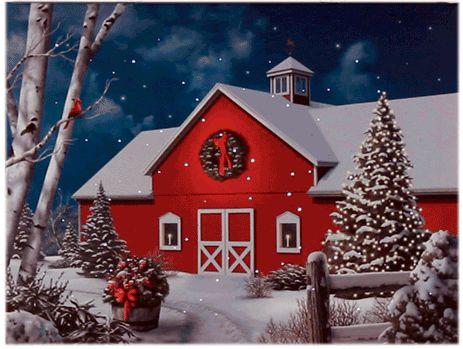 Fall Vintage Wallpaper Christmas Snow Via Giphy Christmas Canvas Christmas Art