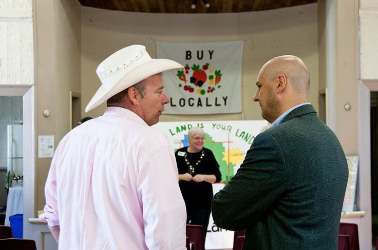 Carl Cosack, head of Food and Water First, and Beaches-East York MP Matthew Kellway, discuss past successes stopping the mega-quarry and pledge their total support the 'last great farmland preservation crusade' for the Pickering federal lands.