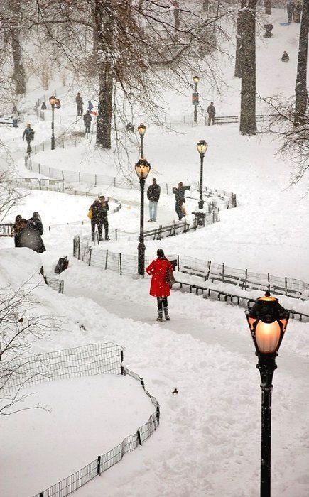 Snowy Central Park, New York <3
