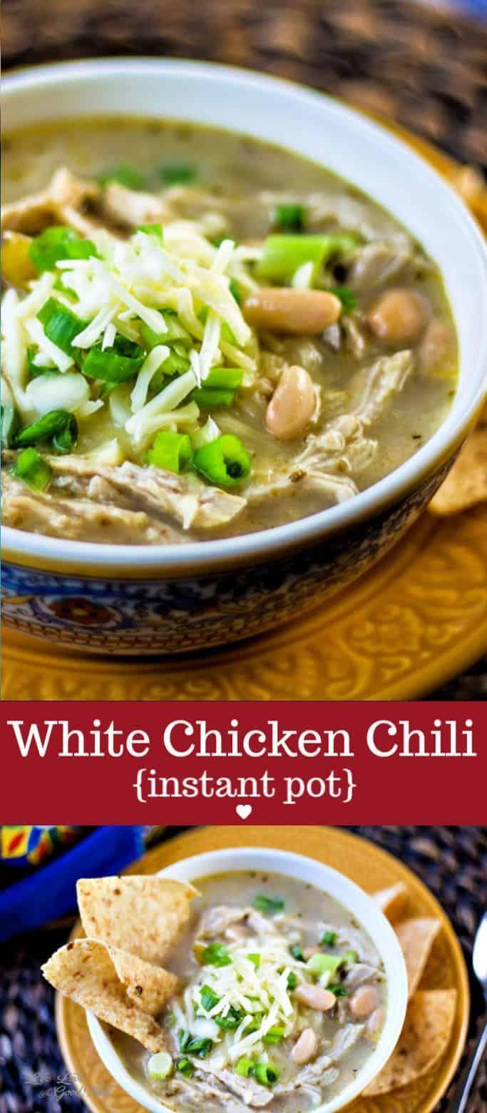 White Chicken Chili For Pressure Cooker Or Instant Pot Recipe Homemade Soup Recipe White Chicken Chili Chicken Chili