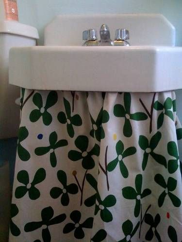 A No Sew Solution Yes Please Bathroom Sink Skirtbathroom