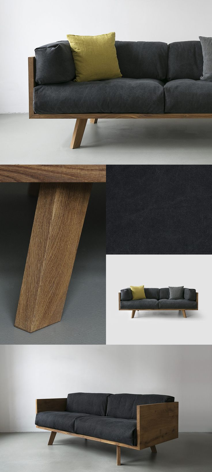 diy furniture I möbel selber bauen I couch sofa daybed I inspiration I NUTSANDWOODS – Oak Linen Sofa