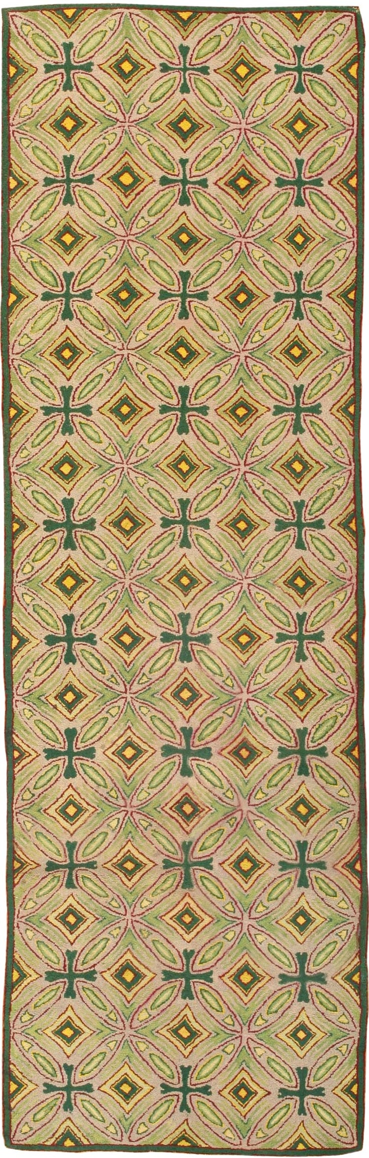 Antique Hooked American Rug 1928