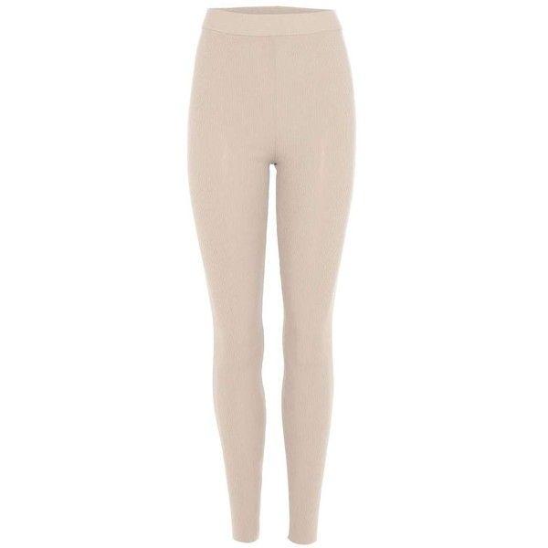Yeezy Leggings (SEASON 3) ($570) ❤ liked on Polyvore featuring pants, leggings, beige, adidas originals, beige leggings, beige pants, pink trousers and pink leggings