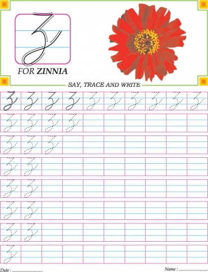 Number Names Worksheets : how to write the letter z in cursive How ...