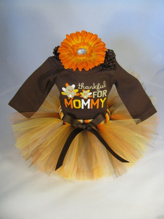 Thanksgiving tutu outfit | Babys First Thanksgiving Outfit Thankful by EleventhHourDesigns, $38 ...