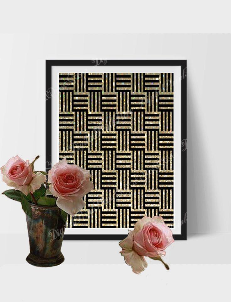 Glitter Gold Modern Wall Print Art 02, Modern Decor, Abstract Print, Modern Art by DigitalPrintStore on Etsy