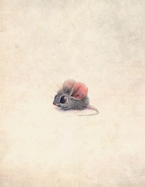 Oh my goodness! Can a mouse be drawn more adorable than this?