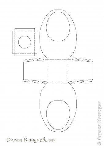 Мастер-класс Упаковка Пасха Вырезание Пасхальные корзинки Бумага фото 31