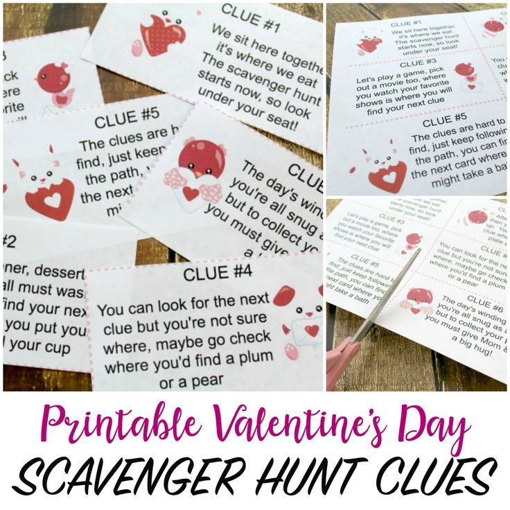Valentine's Day Scavenger Hunt For Kids With Printable
